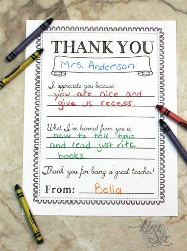 "Thank You Notes For Teachers. Teacher'S Thank You Note ""The ..."