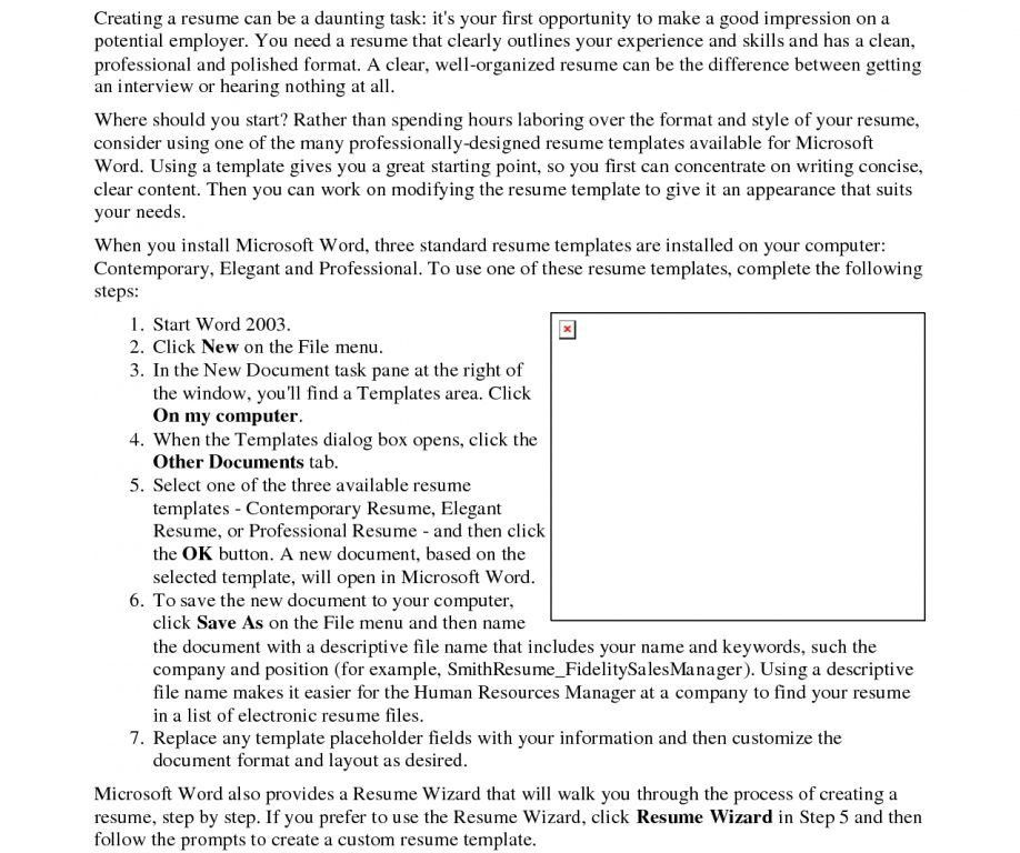 How To Format A Resume In Word | haadyaooverbayresort.com