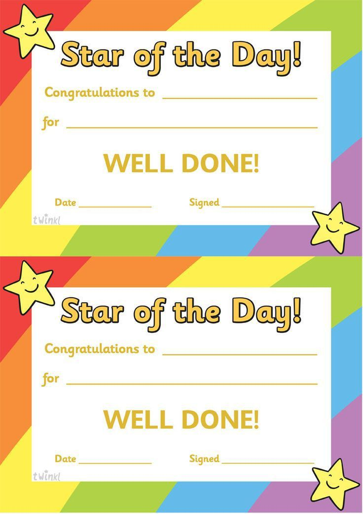 Twinkl Resources >> Star of the Day A4 Poster >> Classroom ...