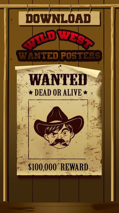 Wild West Wanted Poster Maker - Make Your Own Wild West Outlaw ...