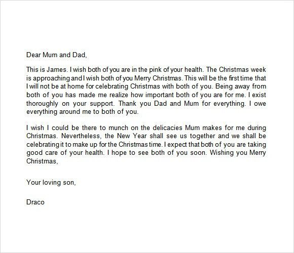 Sample Christmas Letter - 19+ Documents In PDF, Word