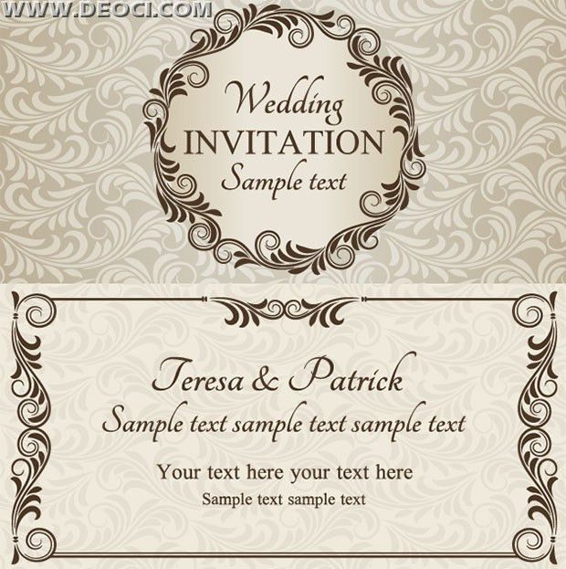 Wedding Invitation Cards Designs Free - Festival-tech.Com