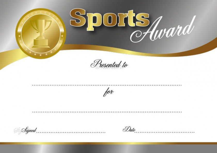 Sports Award certificate | School Merit Stickers