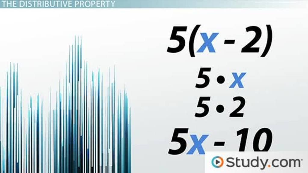 Distributive Property: Definition, Use & Examples - Video & Lesson ...