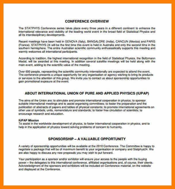 7+ corporate sponsorship proposal template | army memo format