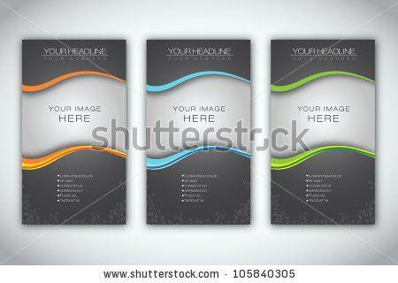Set Blank Brochure Template Eps10 Vector Stock Vector 105840305 ...