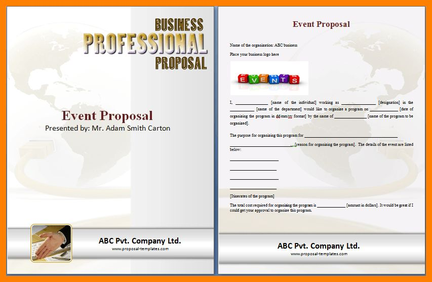 4+ event proposal template doc | army memo format