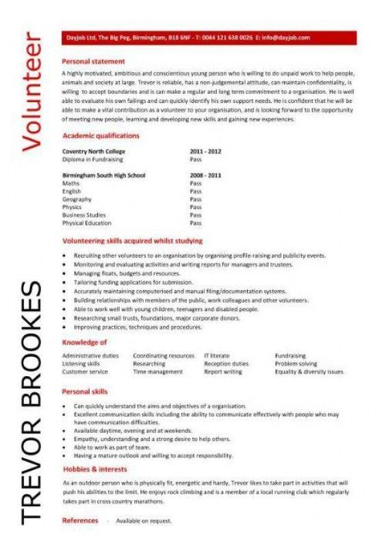 Volunteer Resume Sample – Resume Examples