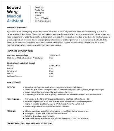 medical assistant resume entry level student entry level medical