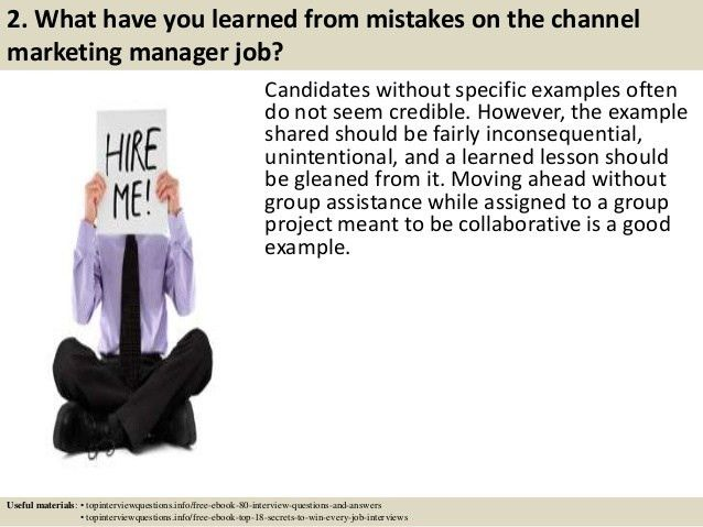 Top 10 channel marketing manager interview questions and answers
