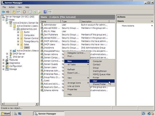 How to Create Users and User Templates in Windows Server 2008 ...
