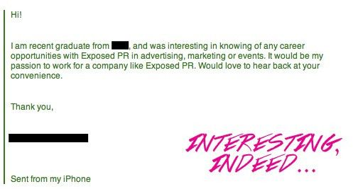 Applying for a Job/Internship with Exposed PR? | Mad Public Relations