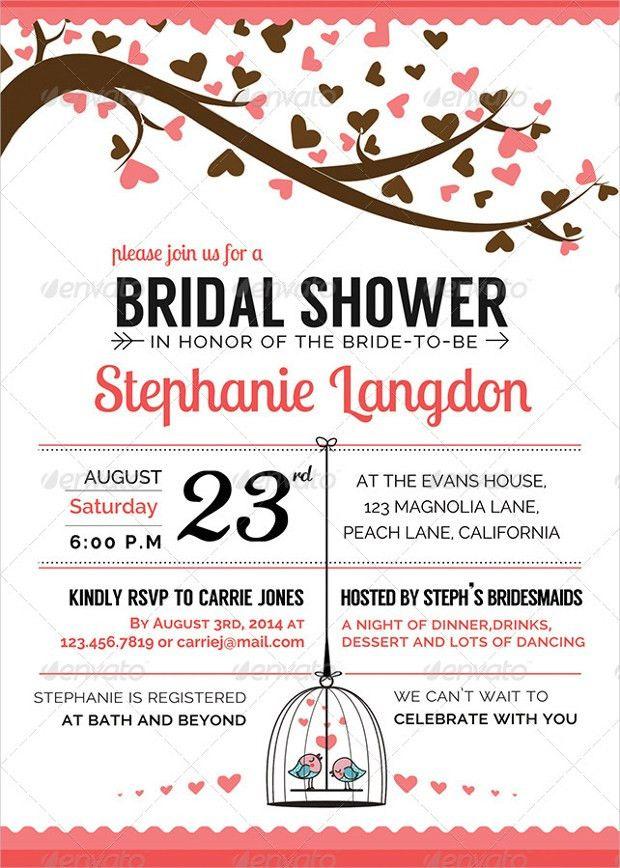 22+ Bridal Shower Invitation Templates - Printable PSD, AI, Vector ...