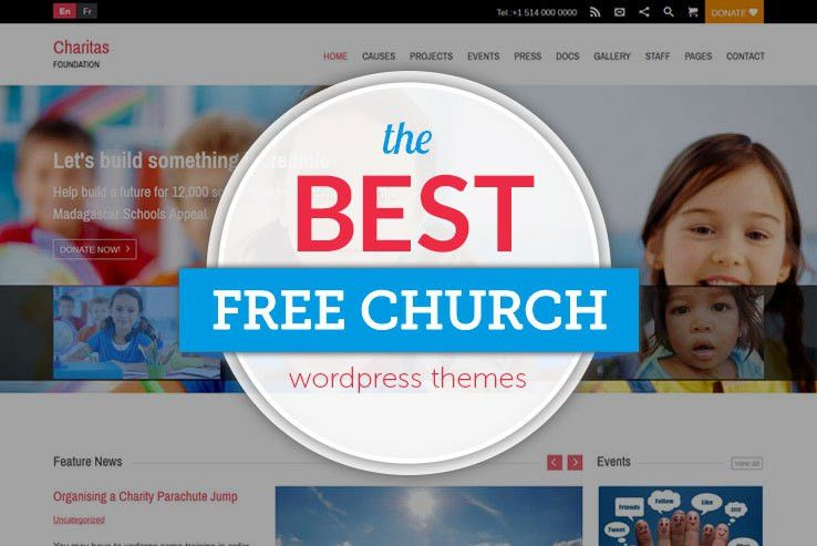 10+ Free Church WordPress Themes 2017