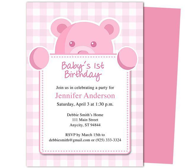 First Birthday Invitation Template - iidaemilia.Com