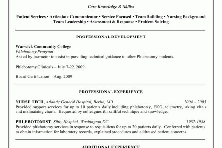 resume : phlebotomist objective resume sample phlebotomy resume ...