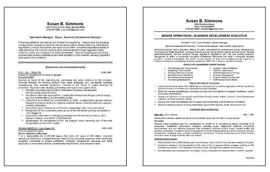 Chief Operations Director COO Resume Example