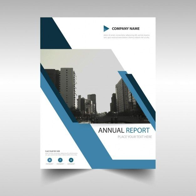 Annual report cover in abstract design Vector | Free Download