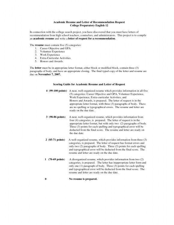 academic resume template high school resume template example