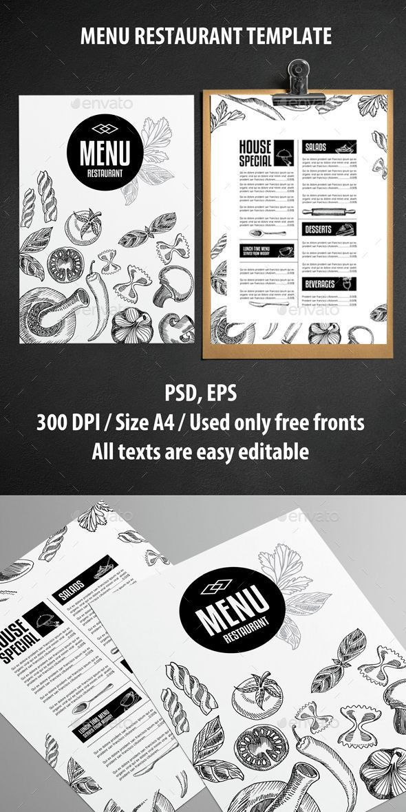 Best 25+ Menu templates ideas on Pinterest | Food menu template ...