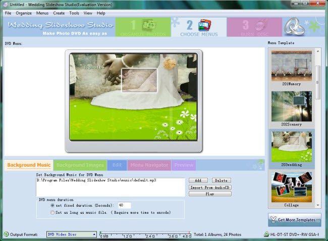User Guide of Wedding Slideshow Studio