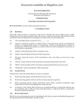 Canada Incorporation and Company Forms | Legal Forms and Business ...