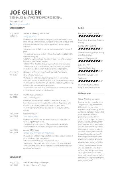 Marketing Consultant Resume samples - VisualCV resume samples database