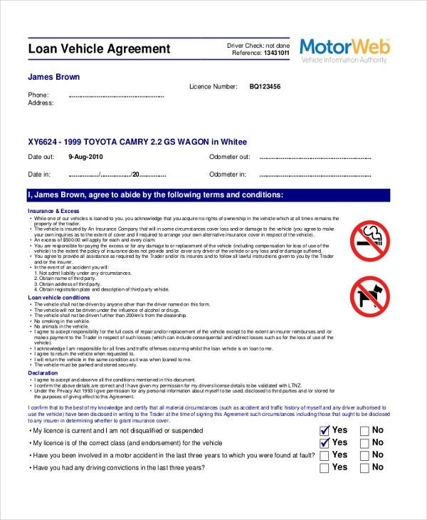 Sample Loan Agreement Form - 9+ Free Documents in PDF