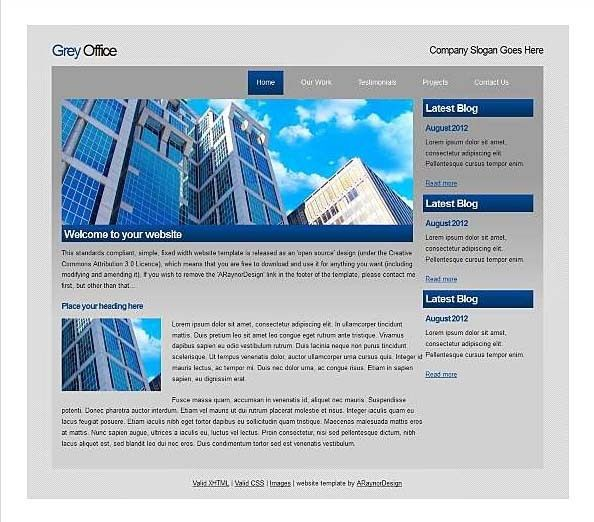 Top Free Corporate Dreamweaver Templates | CSS MenuMaker