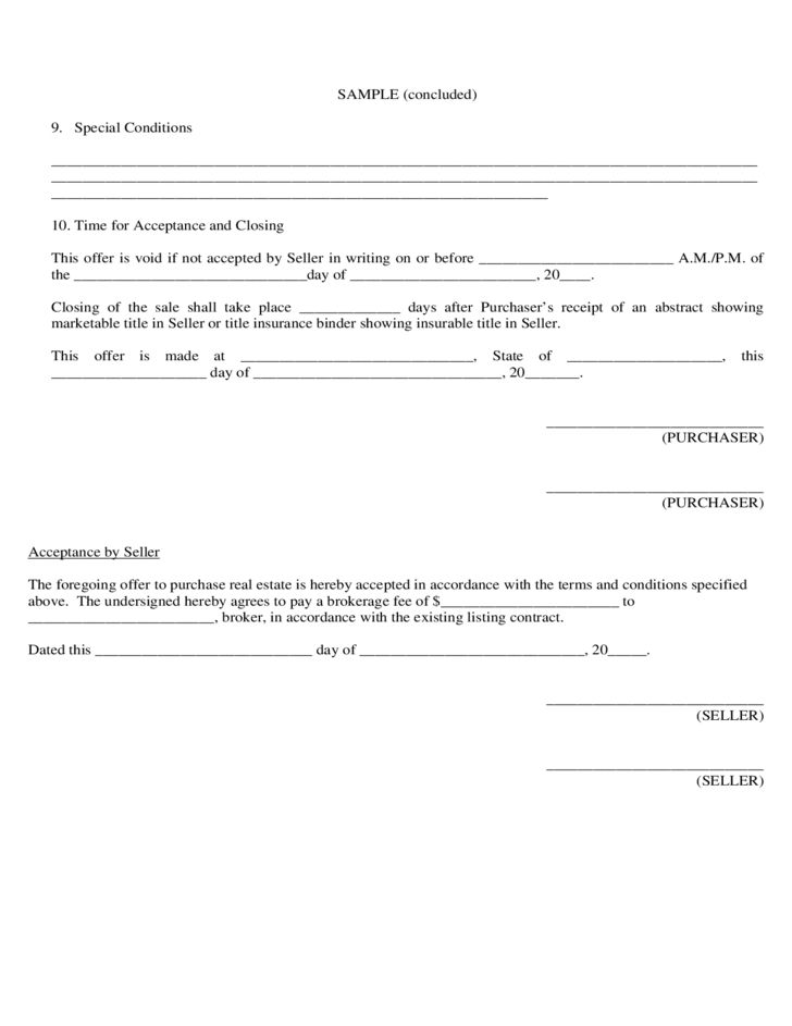 Sample Agreement to Purchase Real Estate Free Download