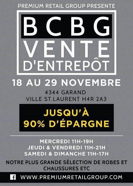 Montrealaubaine.ca - BCBG Warehouse Sale