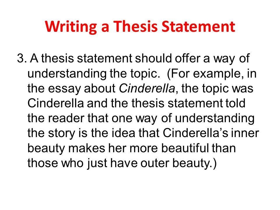 thesis statement for an argumentative essay