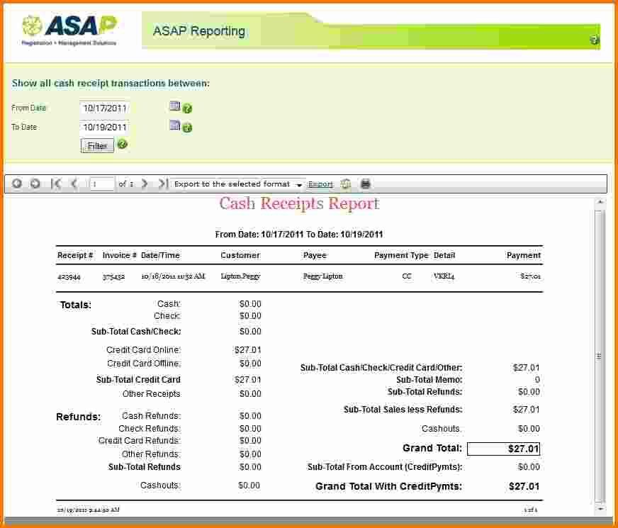 2+ sample receipts   Expense Report