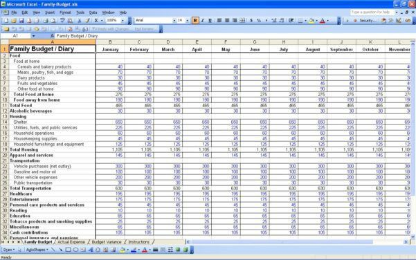 Personal Finance Spreadsheet Template Excel And Credit Card ...