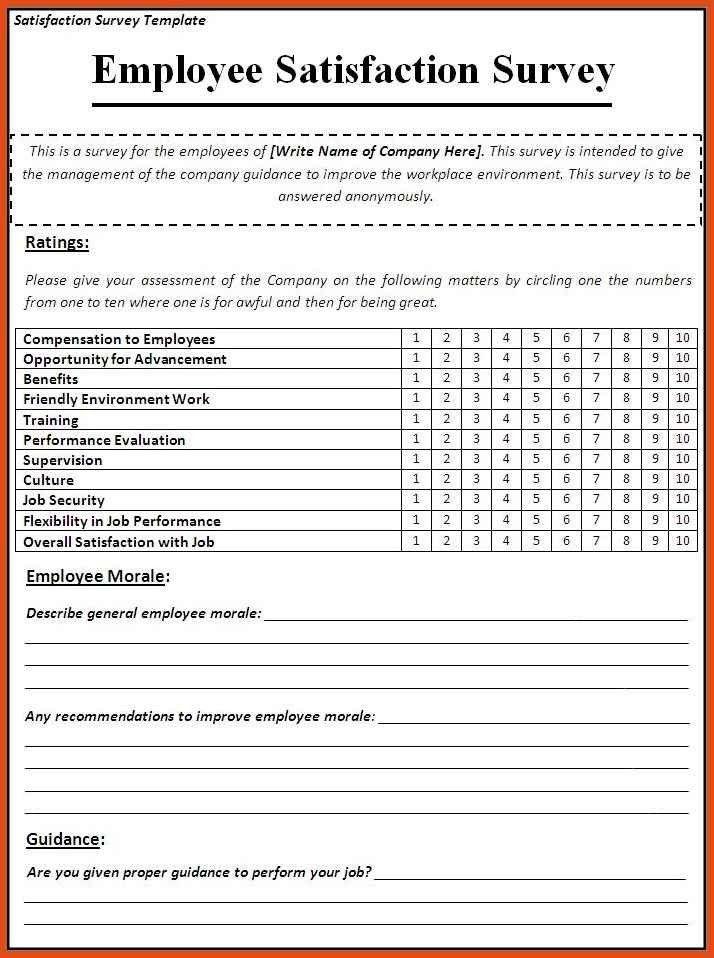 survey template | moa format