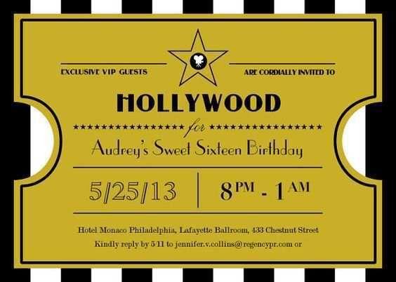 Free Printable Oscar Party Invitations + DIY Gold Glitter ...