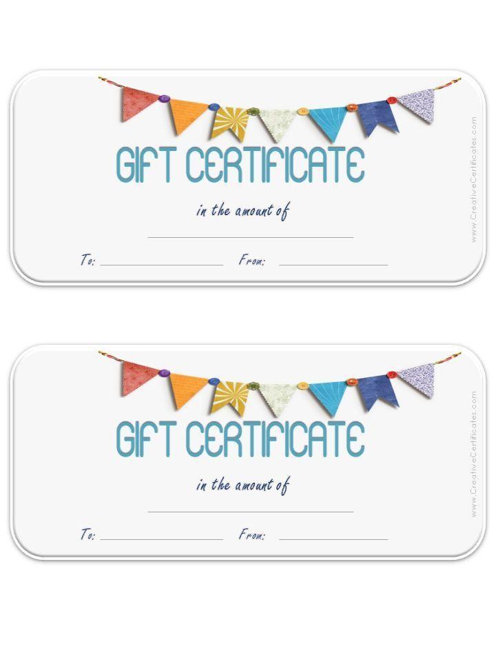 Top 25+ best Blank gift certificate ideas on Pinterest | Free gift ...