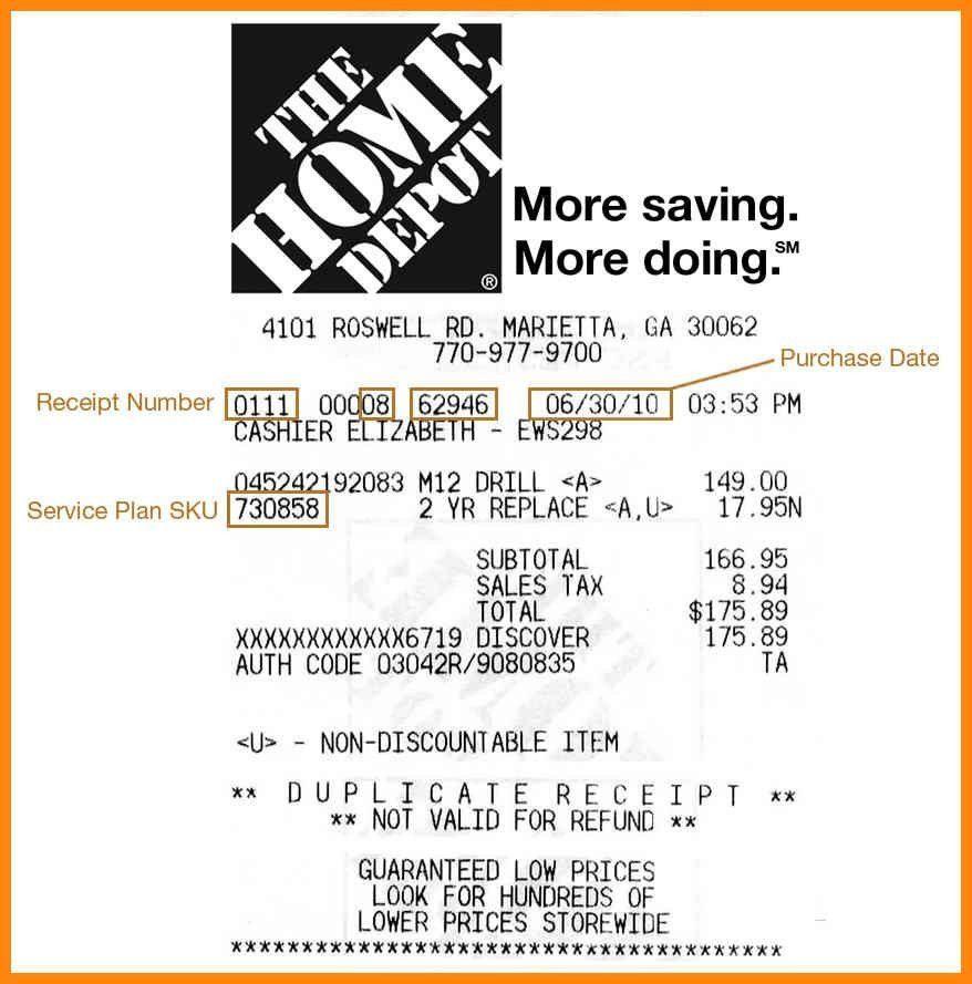 Home Depot Receipt Template.homedepot Original | Best Template ...