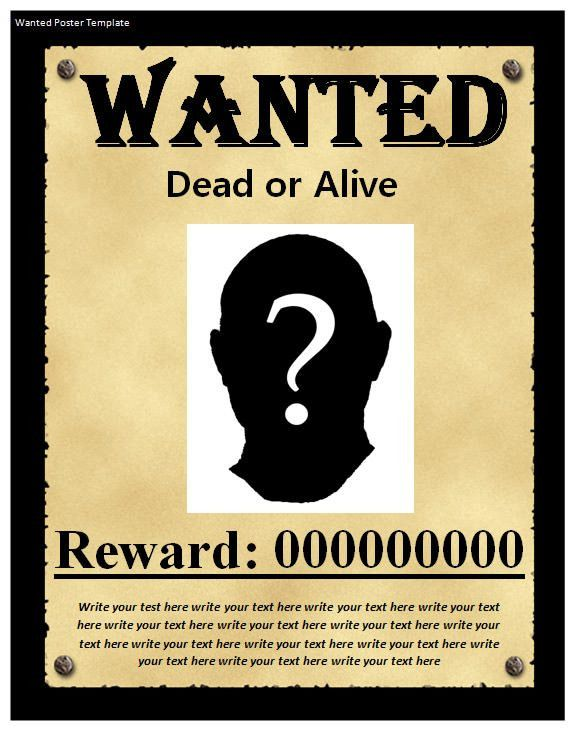 Awesome Wanted Poster Template Publisher Contemporary - Best ...