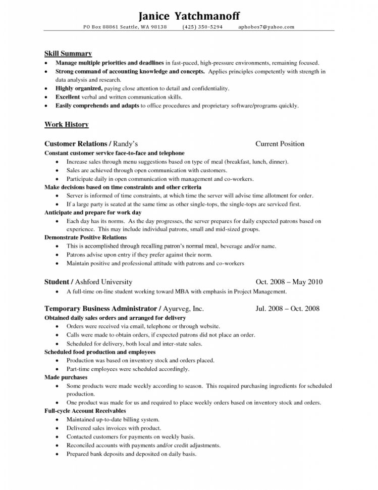 Staff Accountant Resume Summary Staff Accountant Resume Cover ...