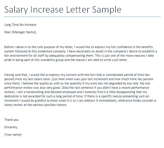 Sample Cover Letter For Salary Increase - Resume Acierta.us