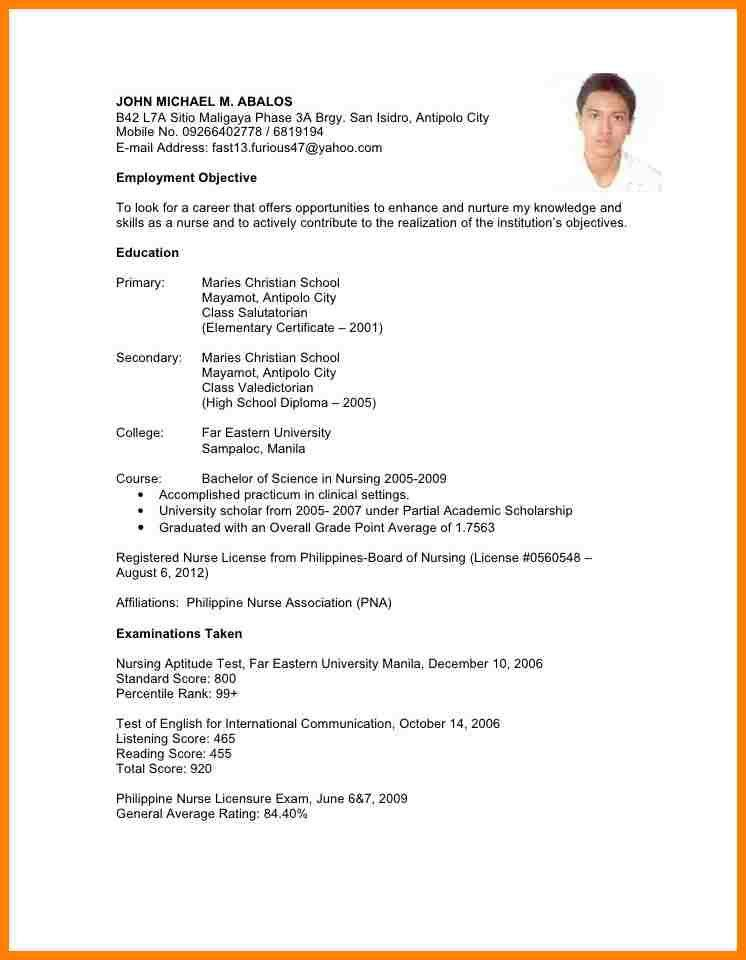 6+ sample of resume for job application filipino | farmer resume