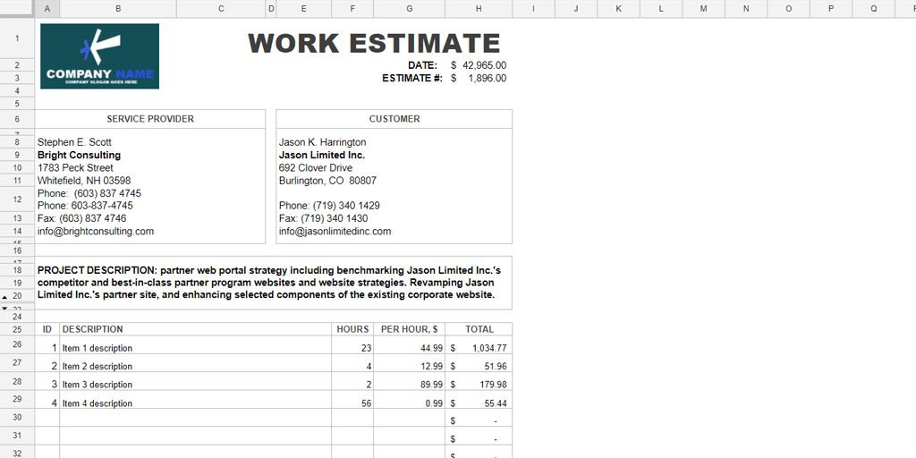 Every Free Estimate Template You Need (The 14 Best Templates ...
