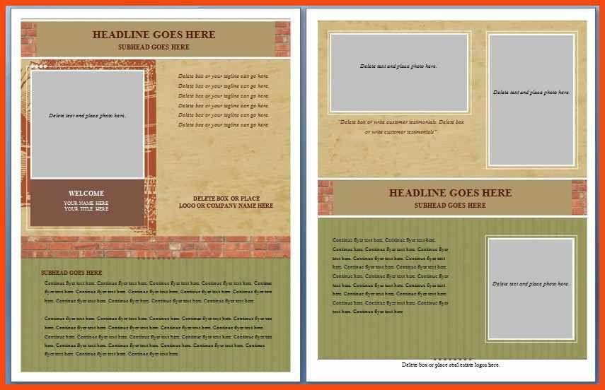 free flyer template word | program format