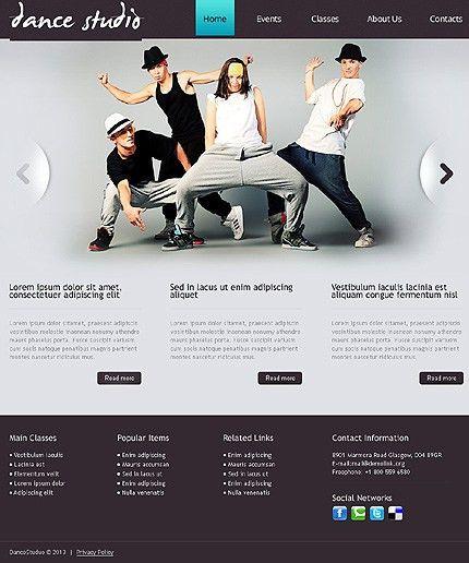 Dance Studio Responsive Drupal Template #blog #website http://www ...