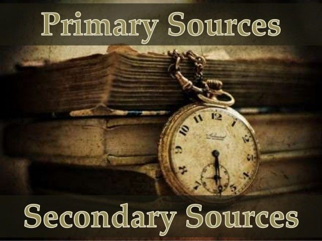 Examples of Primary and Secondary Sources - Write a Writing