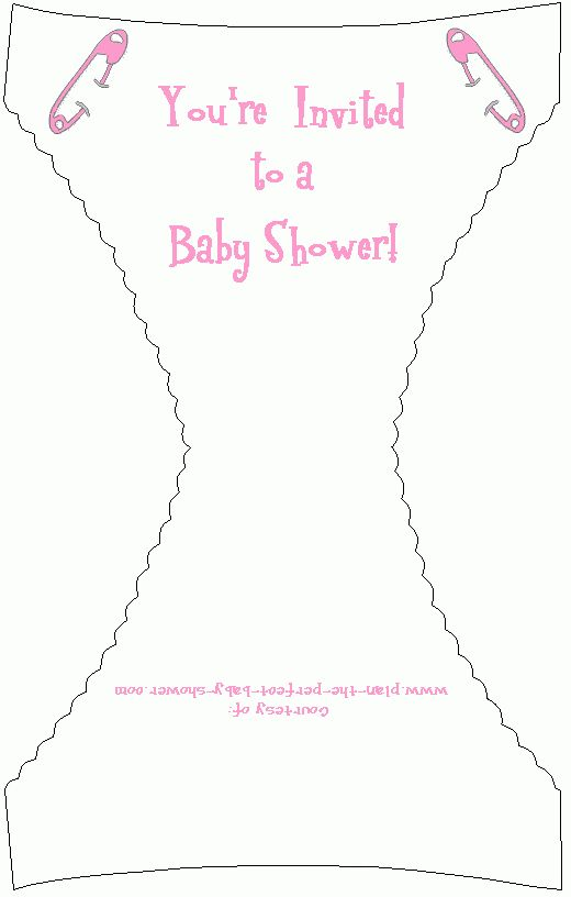 Cute and Free Printable Baby Shower Diaper Invitation