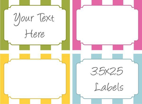 Free Label Templates For Word | Template Design