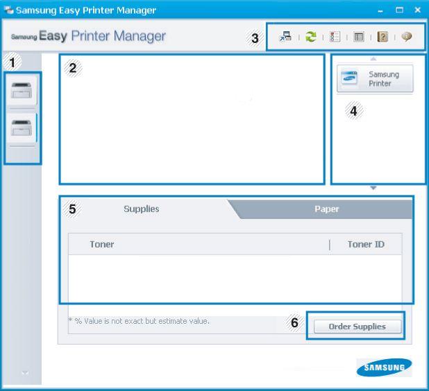 Using Samsung Easy Printer Manager