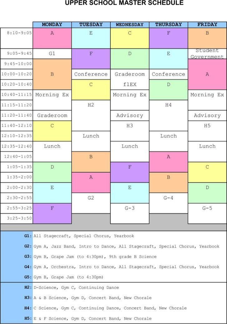 Master Schedule Templates | Download Free & Premium Templates ...